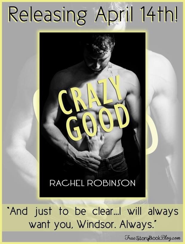 Crazy Good has a (steamy) cover.